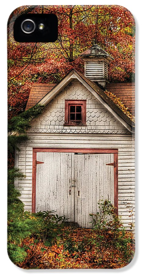 Savad IPhone 5 Case featuring the photograph Farm - Barn - Our Old Shed by Mike Savad