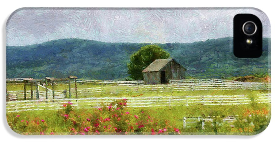 Suburbanscenes IPhone 5 Case featuring the photograph Farm - Barn - Out In The Country by Mike Savad