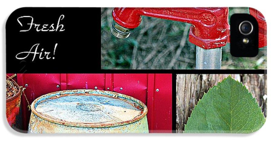 Farm IPhone 5 Case featuring the photograph Farm Fresh Air- Fine Art by KayeCee Spain