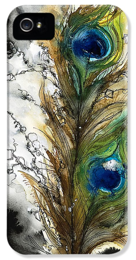 Abstract IPhone 5 Case featuring the painting Female by Tara Thelen - Printscapes