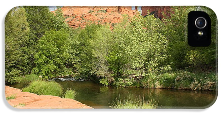 Cathedral Rock IPhone 5 Case featuring the photograph Feng Shui In Sedona by Carol Groenen