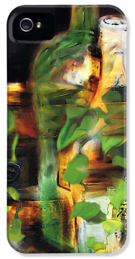 Wine IPhone 5 Case featuring the painting Fine Wine by Bob Salo