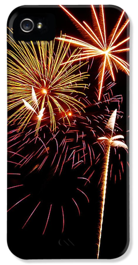 Fireworks IPhone 5 Case featuring the photograph Fireworks 1 by Michael Peychich