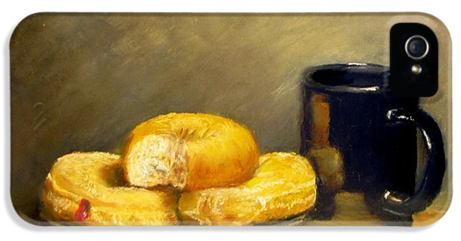 Still Life IPhone 5 Case featuring the painting First Call...breakfast by Jack Skinner