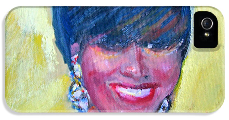 Portrait IPhone 5 Case featuring the painting First Lady In Red by Patricia Taylor