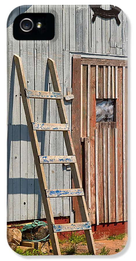 Travel IPhone 5 / 5s Case featuring the photograph Fisherman's Shed In Prince Edward Island by Louise Heusinkveld