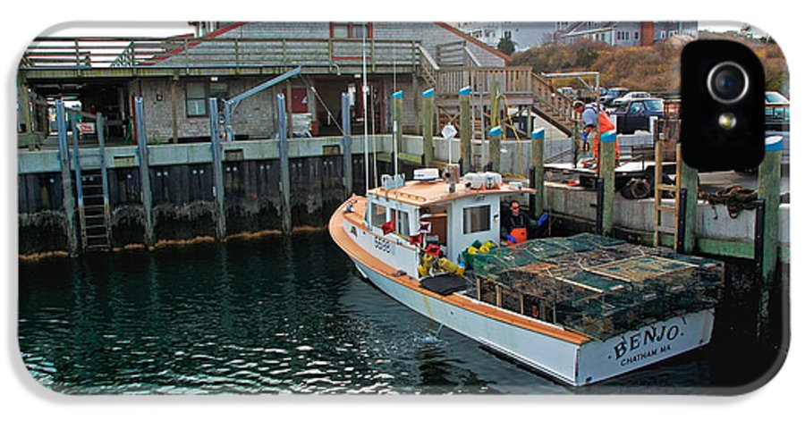 Fish Pier IPhone 5 Case featuring the photograph Fishing Boat At Chatham Fish Pier by Matt Suess