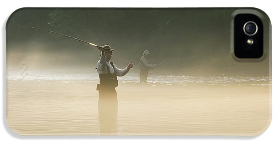 Man IPhone 5 Case featuring the photograph Fly Fishing by Betty LaRue