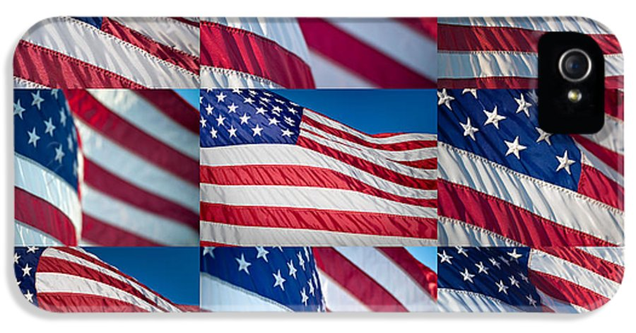 America IPhone 5 Case featuring the photograph Flying Proud by Steve Gadomski