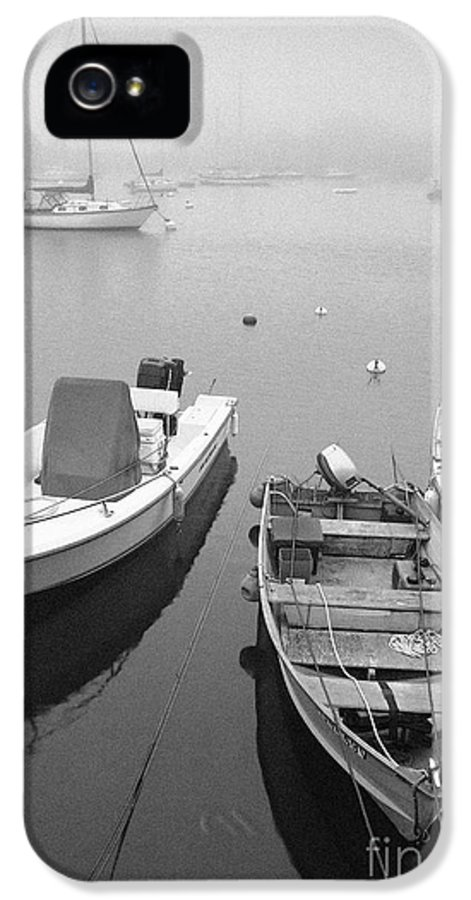 Black And White IPhone 5 Case featuring the photograph Foggy Morning In Cape Cod Black And White by Matt Suess