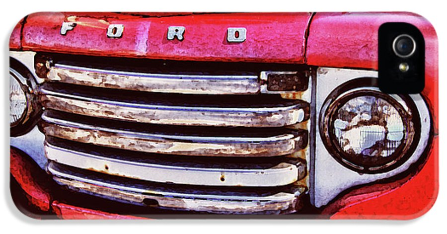 Alabama Photographer IPhone 5 Case featuring the digital art Ford Grille by Michael Thomas