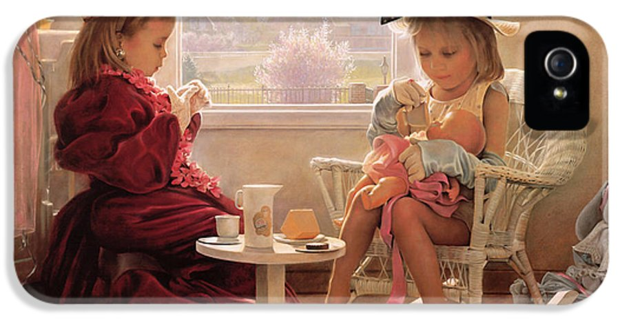 Girls IPhone 5 Case featuring the painting Formal Luncheon by Greg Olsen