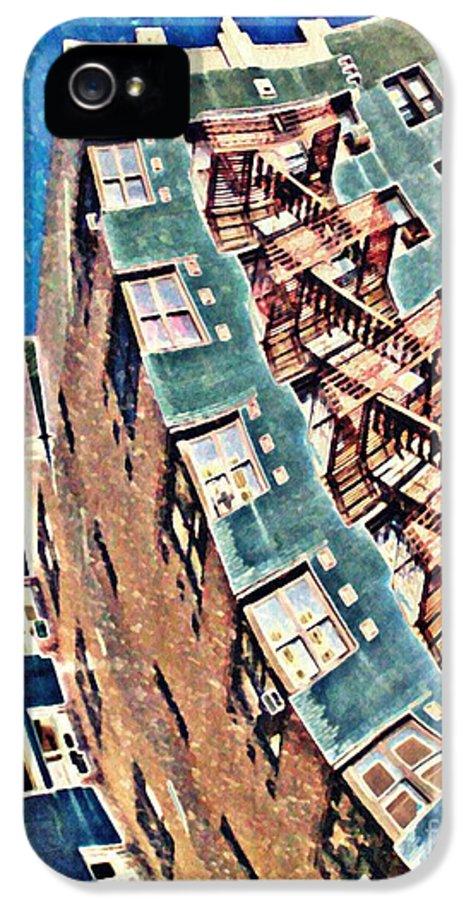 Building IPhone 5 Case featuring the photograph Fort Washington Avenue Building by Sarah Loft