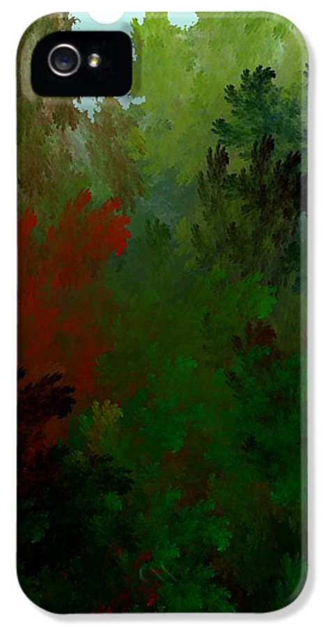Abstract Digital Painting IPhone 5 Case featuring the digital art Fractal Landscape 11-21-09 by David Lane