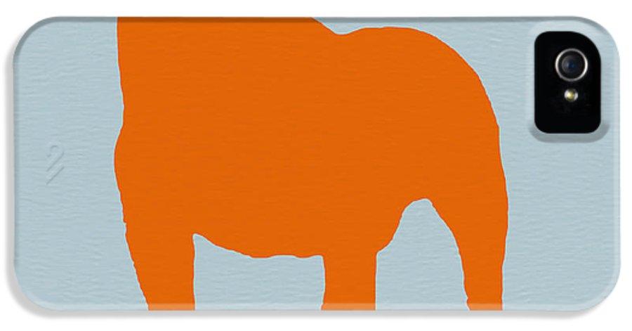 French Bulldog IPhone 5 Case featuring the digital art French Bulldog Orange by Naxart Studio