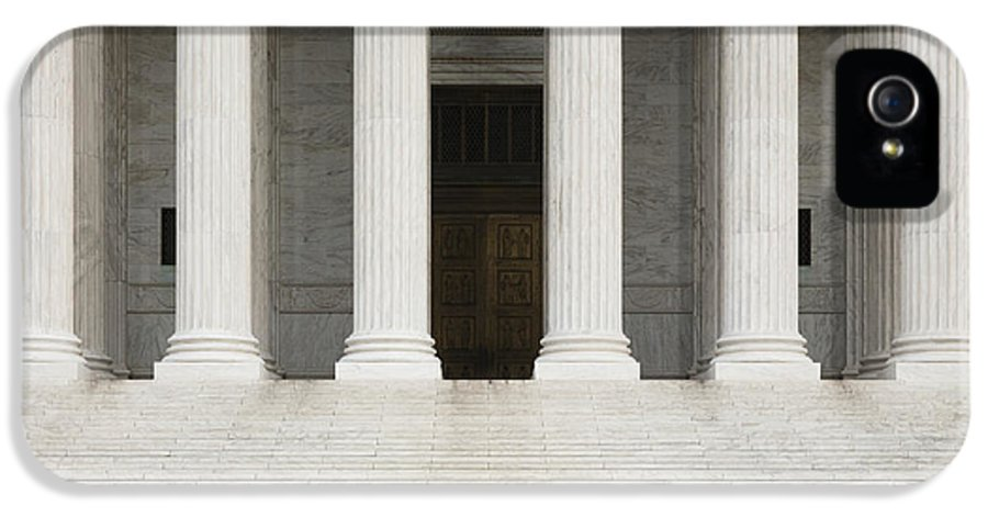American History IPhone 5 Case featuring the photograph Front View Of The Supreme Court Building by Roberto Westbrook