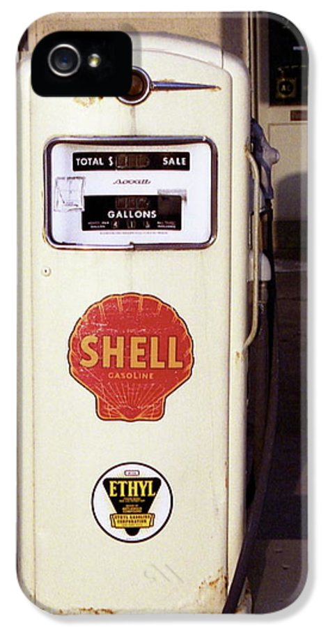 Antique IPhone 5 Case featuring the photograph Gas Pump by Michael Peychich