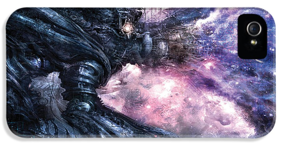 Conceptual IPhone 5 Case featuring the digital art Generation by Alex Ruiz
