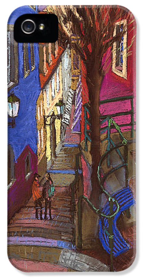 Pastel IPhone 5 Case featuring the painting Germany Baden-baden 08 by Yuriy Shevchuk