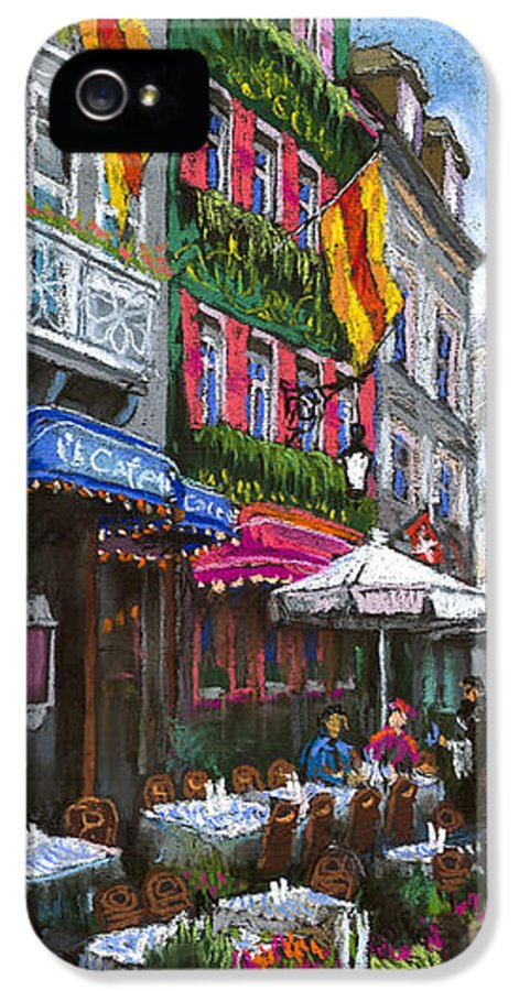 Pastel IPhone 5 Case featuring the painting Germany Baden-baden 10 by Yuriy Shevchuk