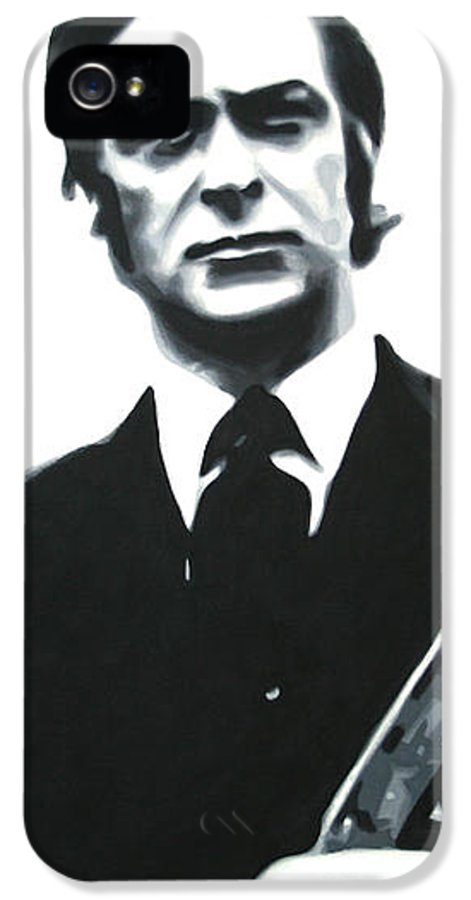 Michael Caine IPhone 5 Case featuring the painting Get Carter 2013 by Luis Ludzska