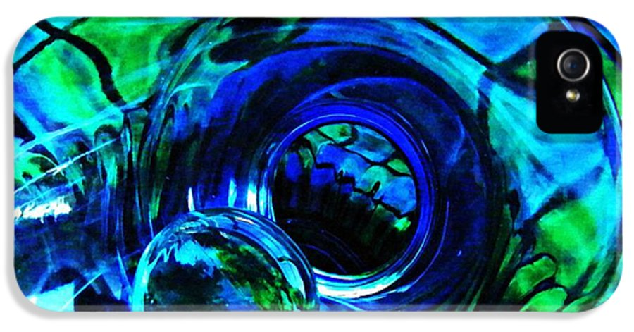 Glass IPhone 5 Case featuring the photograph Glass Abstract 226 by Sarah Loft