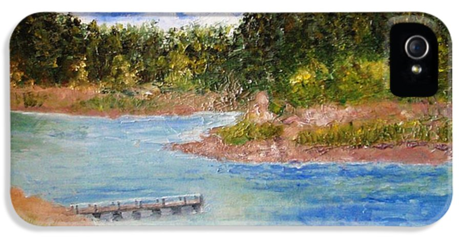 Prescott IPhone 5 Case featuring the painting Goldwater Lake by Jamie Frier