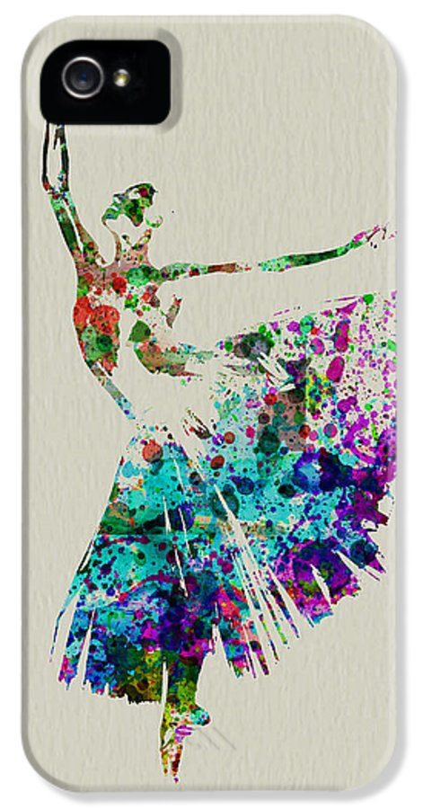 IPhone 5 Case featuring the painting Gorgeous Ballerina by Naxart Studio