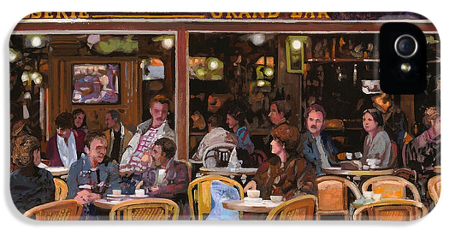 Brasserie IPhone 5 / 5s Case featuring the painting Grand Bar by Guido Borelli