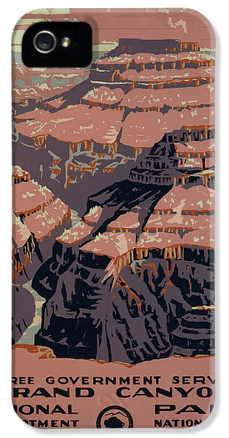 Grand Canyon IPhone 5 Case featuring the digital art Grand Canyon by Unknown