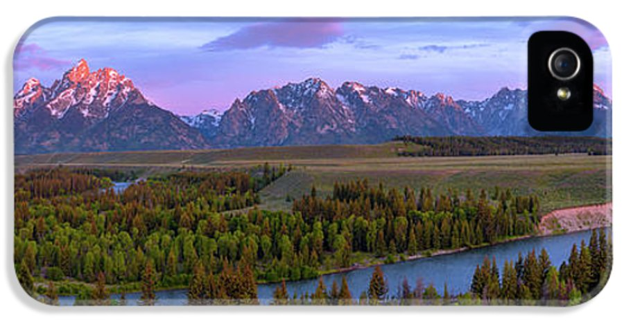 Grand Tetons IPhone 5 Case featuring the photograph Grand Tetons by Chad Dutson