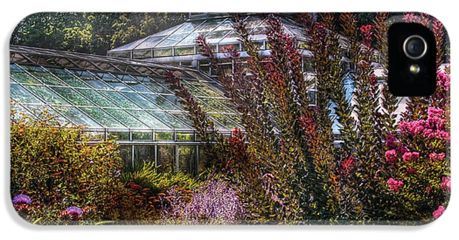 Savad IPhone 5 Case featuring the photograph Greenhouse - The Greenhouse by Mike Savad