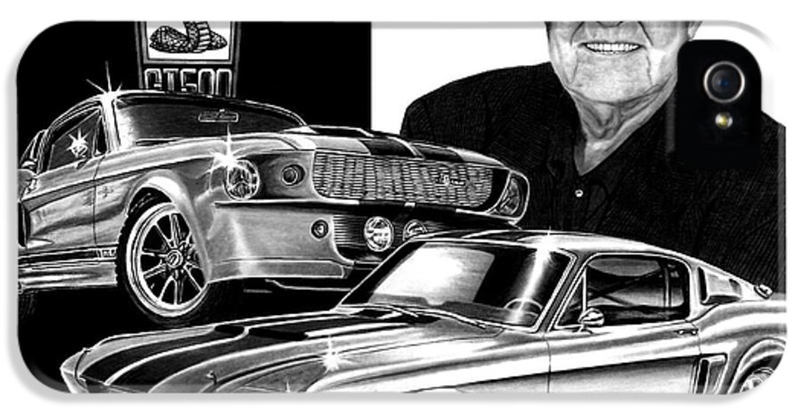Gt 500 IPhone 5 Case featuring the drawing Gt 500c by Peter Piatt