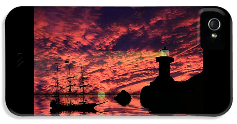 Lighthouse IPhone 5 Case featuring the photograph Guiding The Way by Shane Bechler
