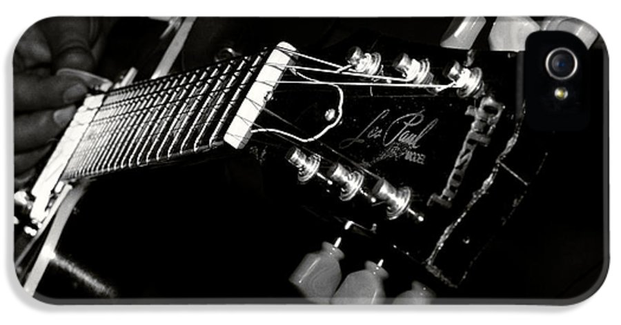 Acoustic IPhone 5 Case featuring the photograph Guitarist by Stelios Kleanthous