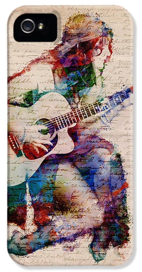 Gypsy IPhone 5 Case featuring the digital art Gypsy Serenade by Nikki Smith