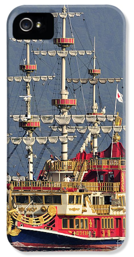 Pirate Ship IPhone 5 Case featuring the photograph Hakone Sightseeing Cruise Ship Sailing On Lake Ashi Hakone Japan by Andy Smy