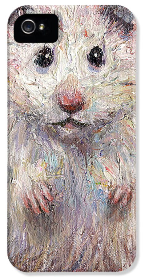 Hamster IPhone 5 Case featuring the painting Hamster Painting by Svetlana Novikova