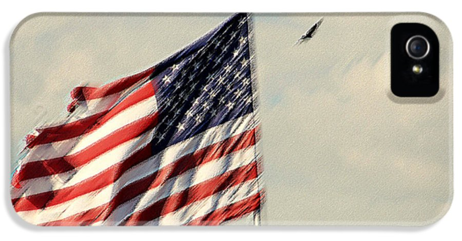 Photography IPhone 5 Case featuring the photograph Happy Birthday America by Susanne Van Hulst