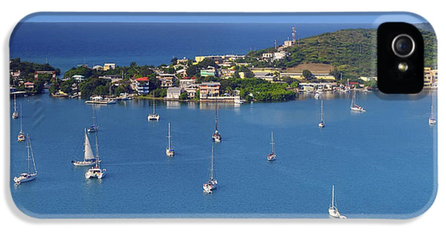 Harbor IPhone 5 / 5s Case featuring the photograph Harbor Blues by Stephen Anderson