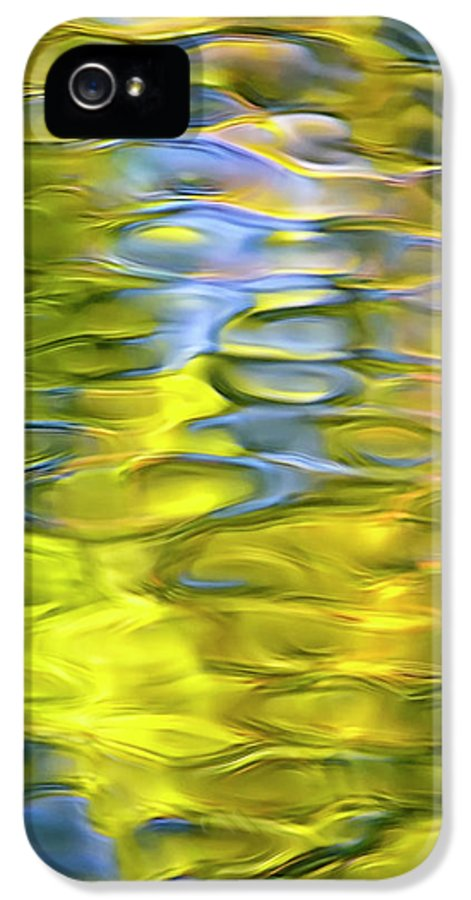 Abstract IPhone 5 Case featuring the photograph Harvest Gold Mosaic by Christina Rollo