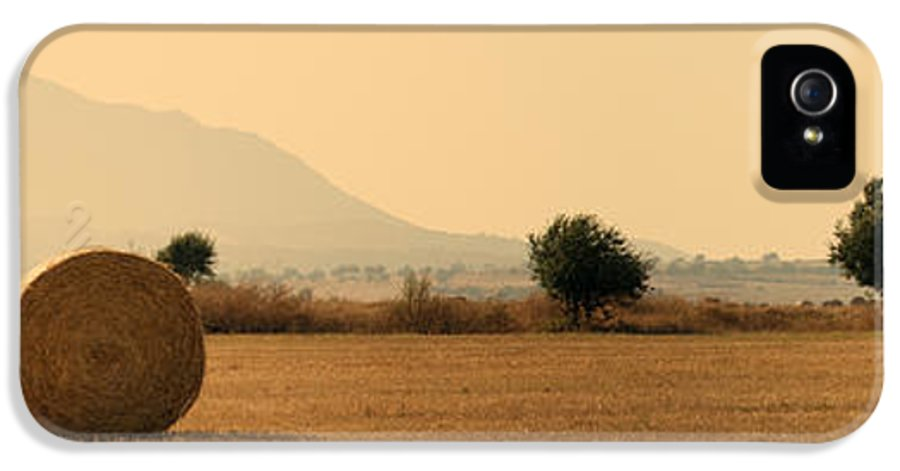 Agriculture IPhone 5 Case featuring the photograph Hay Rolls by Stelios Kleanthous