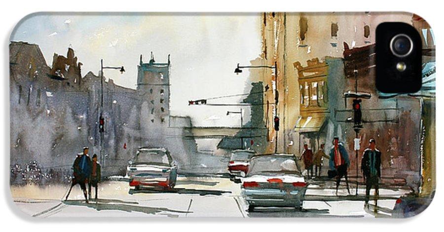Ryan Radke IPhone 5 Case featuring the painting Heading West On College Avenue - Appleton by Ryan Radke