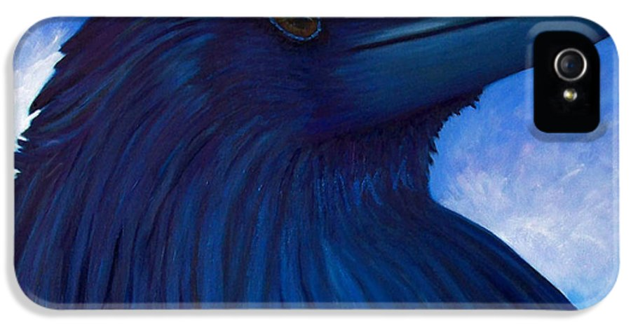 Raven IPhone 5 Case featuring the painting Heaven Bound by Brian Commerford