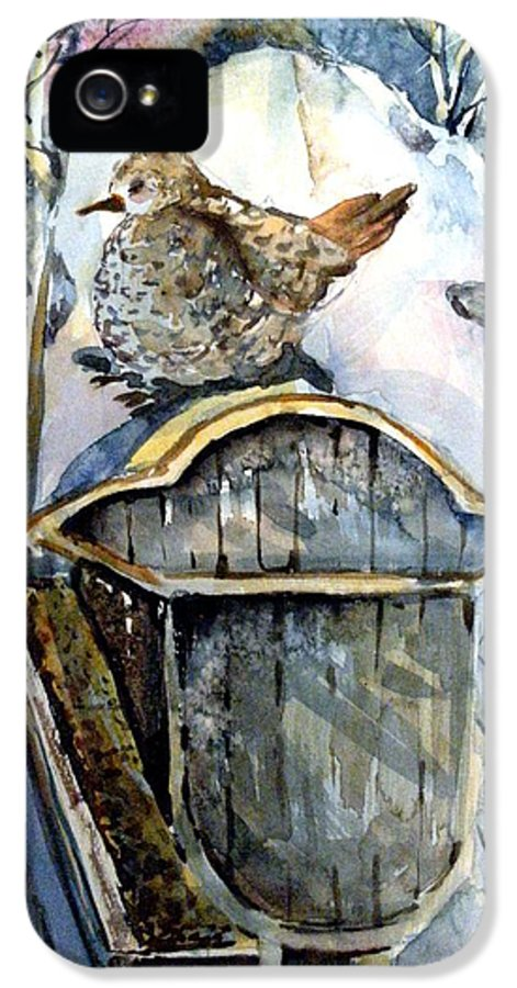 Dove IPhone 5 Case featuring the painting Heavenly Peace by Mindy Newman