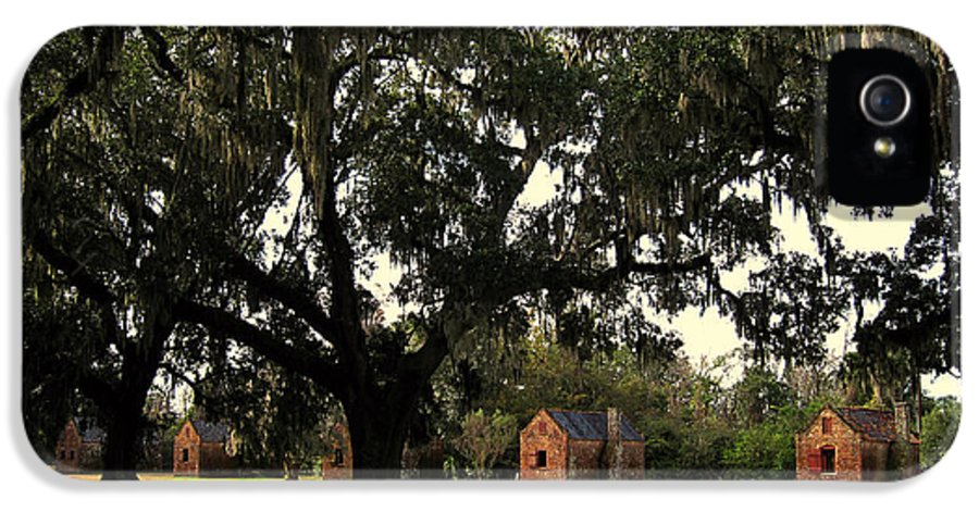American History IPhone 5 Case featuring the photograph Historic Slave Houses At Boone Hall Plantation In Sc by Susanne Van Hulst