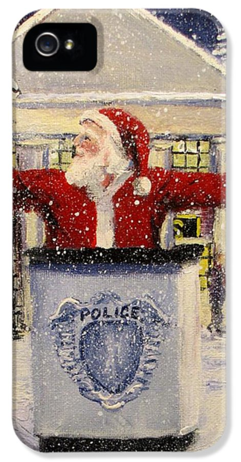 Santa IPhone 5 Case featuring the painting Ho Ho Go... by Jack Skinner