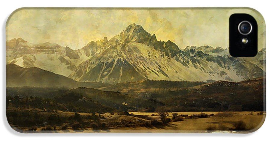Brett IPhone 5 Case featuring the digital art Home Series - The Grandeur by Brett Pfister