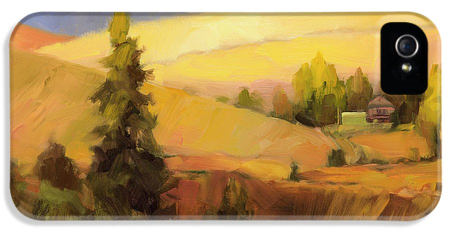 Country IPhone 5 Case featuring the painting Homeland 2 by Steve Henderson