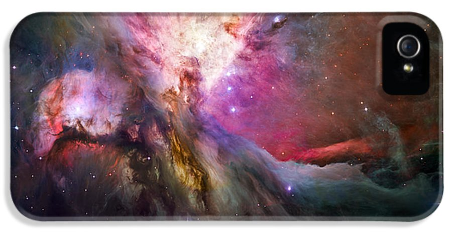 3scape Photos IPhone 5 Case featuring the photograph Hubble's Sharpest View Of The Orion Nebula by Adam Romanowicz